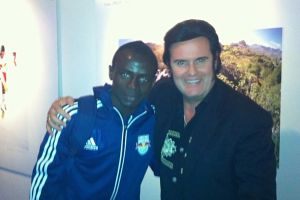 Rusty mit Red Bull Kicker Sadio Mané