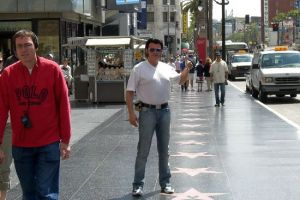 Rusty praesentiert den Hollywood Boulevard in Los Angeles