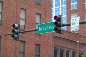 Broadway Street in Nashville Tennessee