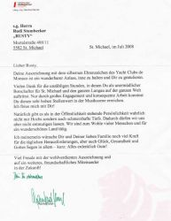 Brief von BM Manfred Sampl